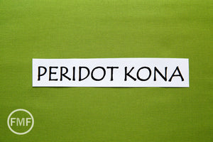 Peridot Kona Cotton Solid Fabric from Robert Kaufman, K001-317