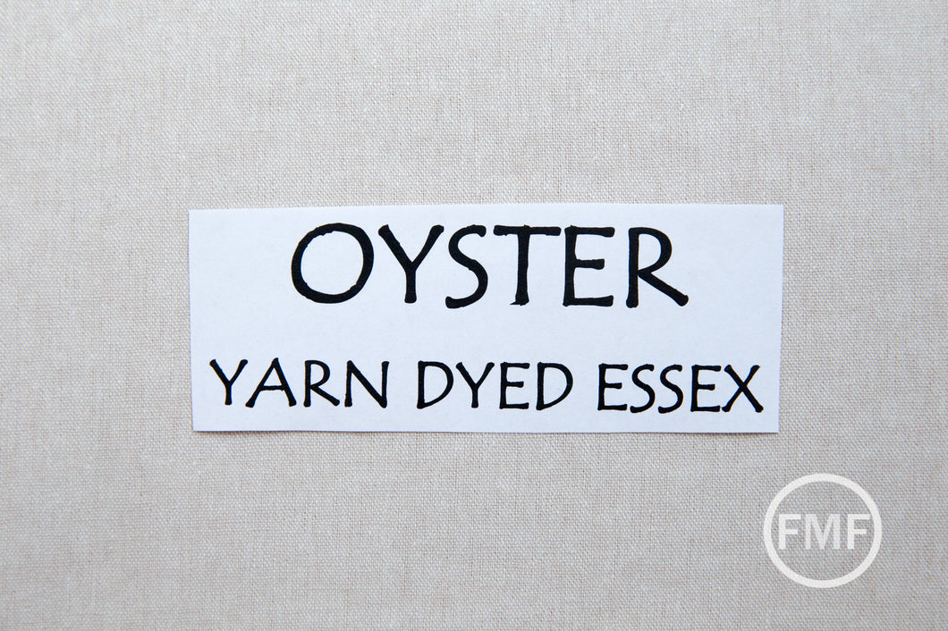 OYSTER Yarn Dyed Essex, Linen and Cotton Blend Fabric from Robert Kaufman, E064-1268 OYSTER