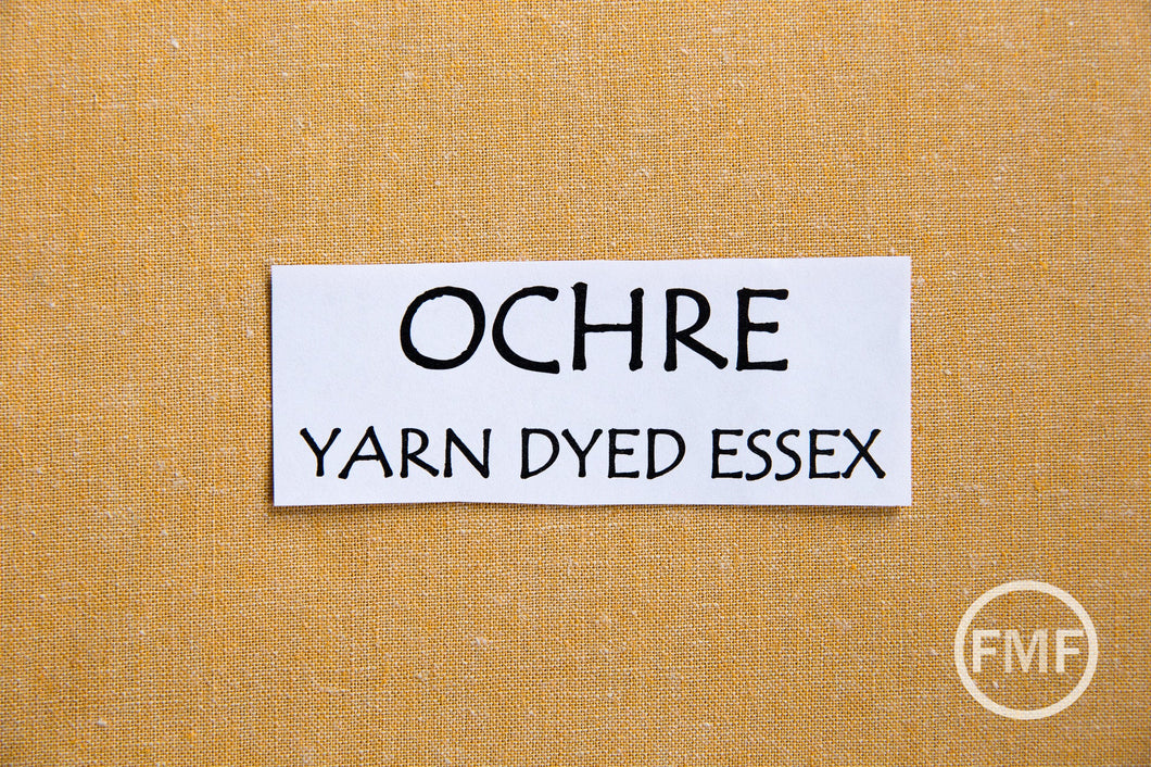 OCHRE Yarn Dyed Essex, Linen and Cotton Blend Fabric from Robert Kaufman, E064-1704 OCHRE