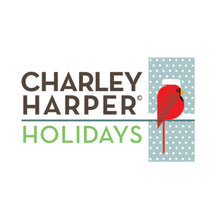 Load image into Gallery viewer, Charley Harper Holidays Twigs in Green 100% GOTS-Certified Organic Cotton Poplin, Birch Fabrics, CH-87-GREEN