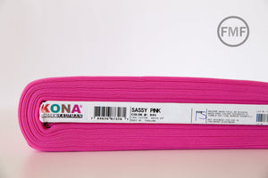 Sassy Pink Kona Cotton Solid Fabric from Robert Kaufman, K001-845