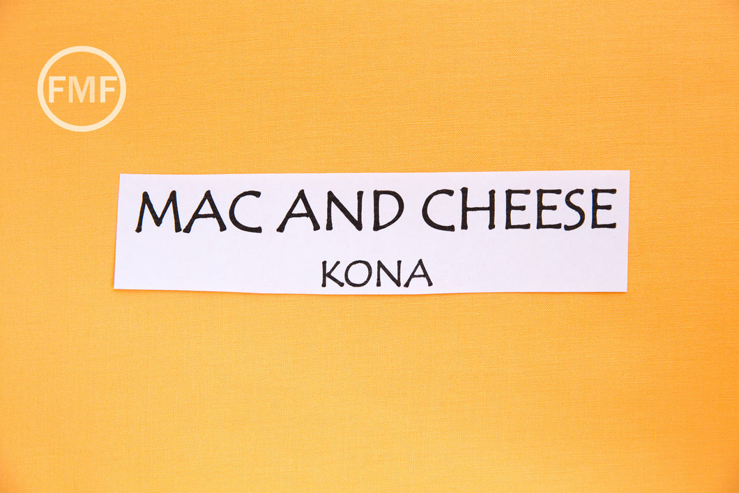 Mac and Cheese Kona Cotton Solid Fabric from Robert Kaufman, K001-851