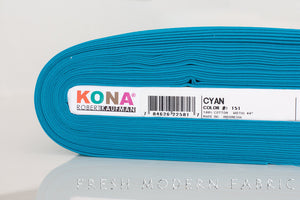 Cyan Kona Cotton Solid Fabric from Robert Kaufman, K001 151