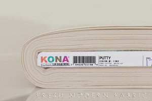 Putty Kona Cotton Solid Fabric from Robert Kaufman, K001-1303
