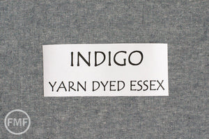 INDIGO Yarn Dyed Essex, Linen and Cotton Blend Fabric from Robert Kaufman, E064-1178