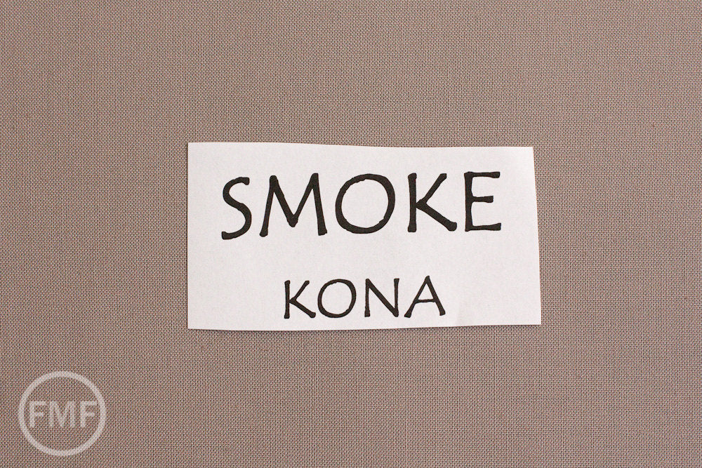 Smoke Kona Cotton Solid Fabric from Robert Kaufman, K001-1713