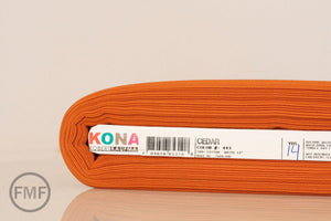 Cedar Kona Cotton Solid Fabric from Robert Kaufman, K001-443