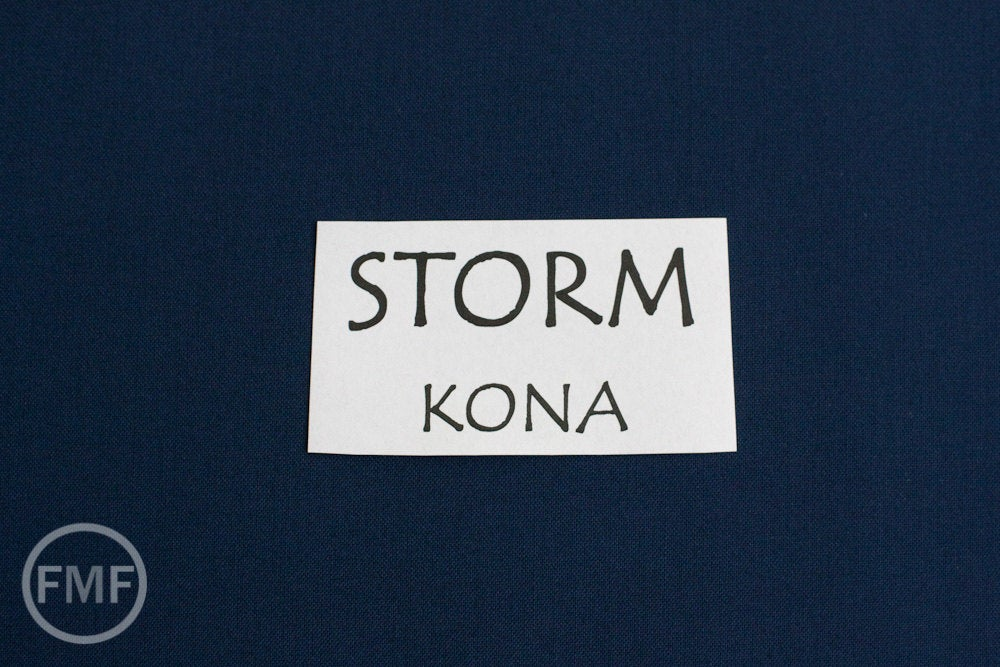 Storm Kona Cotton Solid Fabric from Robert Kaufman, K001-458