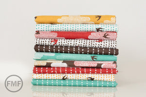 Up, Up and Away Dots and Spots in Smudge, Skinny laMinx, Heather Moore, 100% GOTS-Certified Organic Cotton, Cloud9 Fabrics