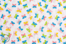 Load image into Gallery viewer, Picture Pie Butterflies, Ed Emberley, 100% GOTS-Certified Organic Cotton, Cloud9 Fabrics