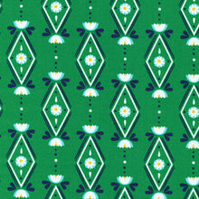 Load image into Gallery viewer, Lotus Pond Diamonds are Forever in Green, Rae Hoekstra, 100% GOTS-Certified Organic Cotton, Cloud9 Fabrics