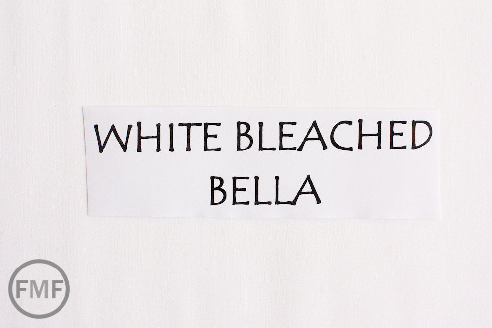 White Bleached Bella Cotton Solid Fabric from Moda, 9900 98
