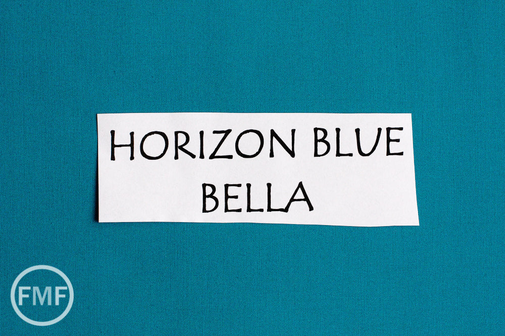Horizon Blue Bella Cotton Solid Fabric from Moda, 9900 111