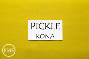 Pickle Kona Cotton Solid Fabric from Robert Kaufman, K001-480