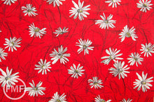 Load image into Gallery viewer, Suzuko Koseki Small Marguerite Daisy in Red, Yuwa Fabric, SZ826012A, 100% Cotton Japanese Fabric