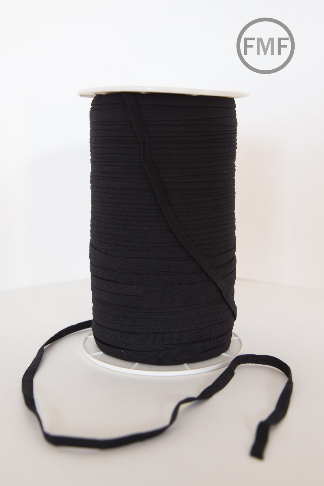 1/4-Inch (6 mm) Black Elastic Trim, Moda Fabrics, E180B, Sold by the Yard