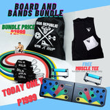Resistance Band Set + PUSH UP BOARD