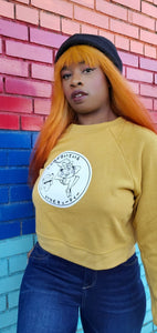 MS. MUSTARD CROP SWEATER [LADIES]