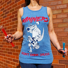Load image into Gallery viewer, WINNERS DON'T DRINK DRUGS: HEATHER BLUE UNISEX TANK [UNISEX]