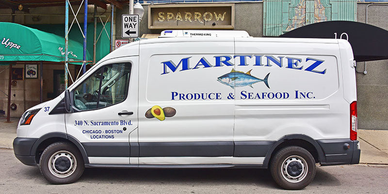 Martinez Produce & Seafood Delivery Truck