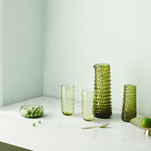 Indlæs billede til gallerivisning DANISH SUMMER WATER CARAFE OLIVE GREEN