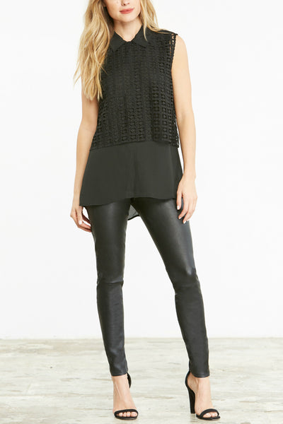 Cupcakes and Cashmere Annika Lace Tank by Emily Schuman