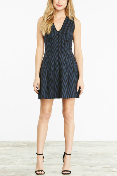 Midnight Jacquard Dress