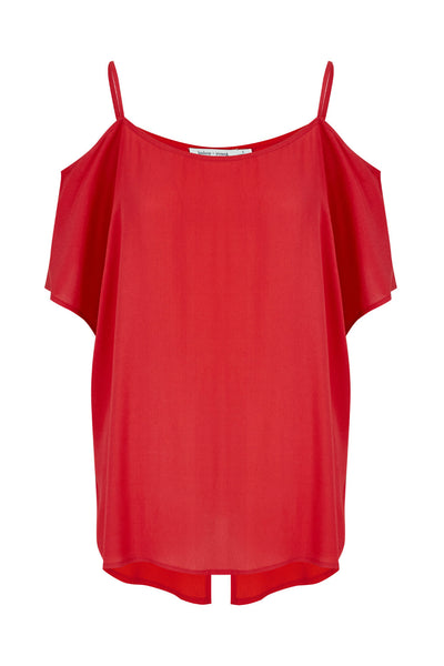 Bishop and Young Kate Cold Shoulder Top in Red