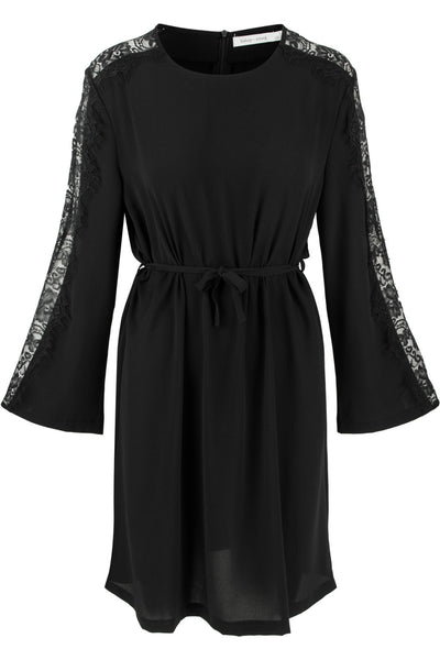 Black bell sleeve dress by Bishop + Young