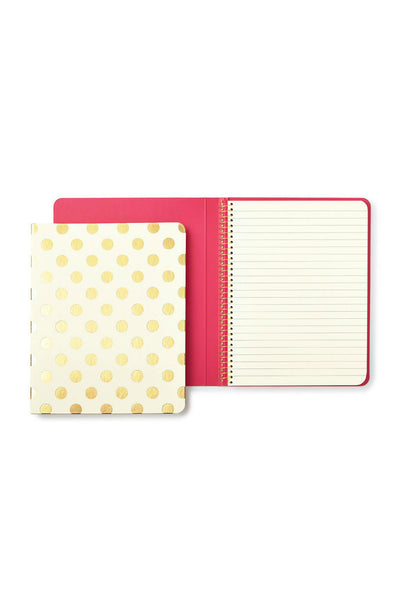 Gold Dots Concealed Spiral Notebook