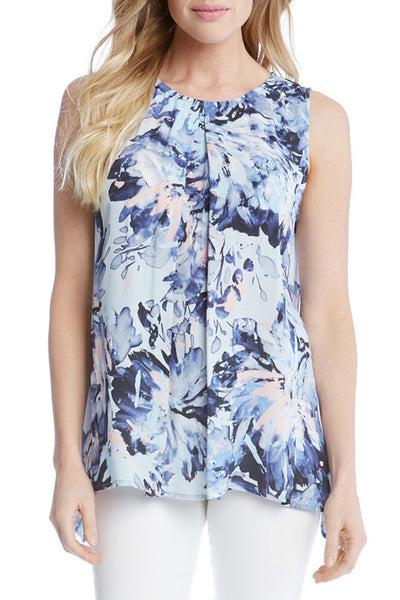 Front Pleat Sleeveless Top