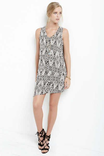 Diamond Print Layered Dress