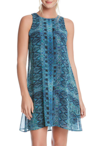 Aqua sleeveless dress by Karen Kane