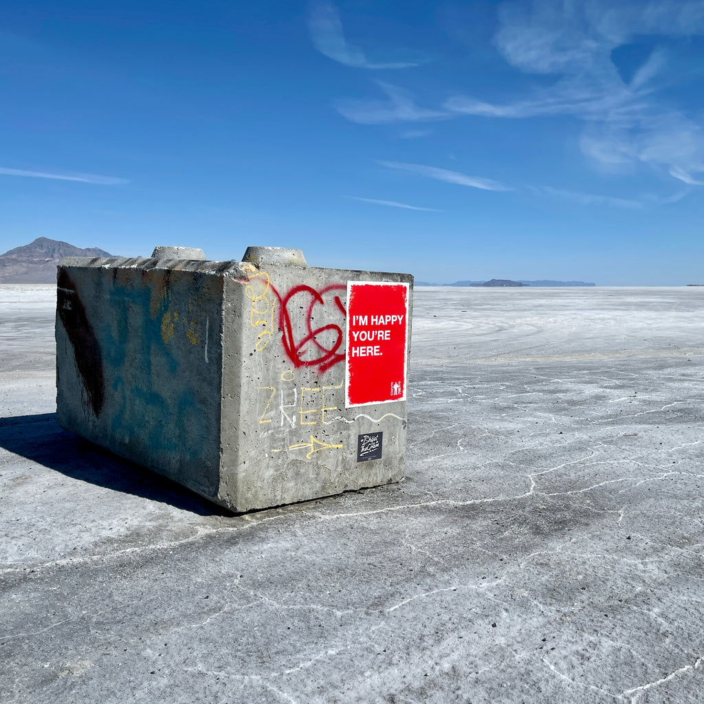 I'm Happy You're Here (Bonneville Salt Flats, Utah) by Egoproof