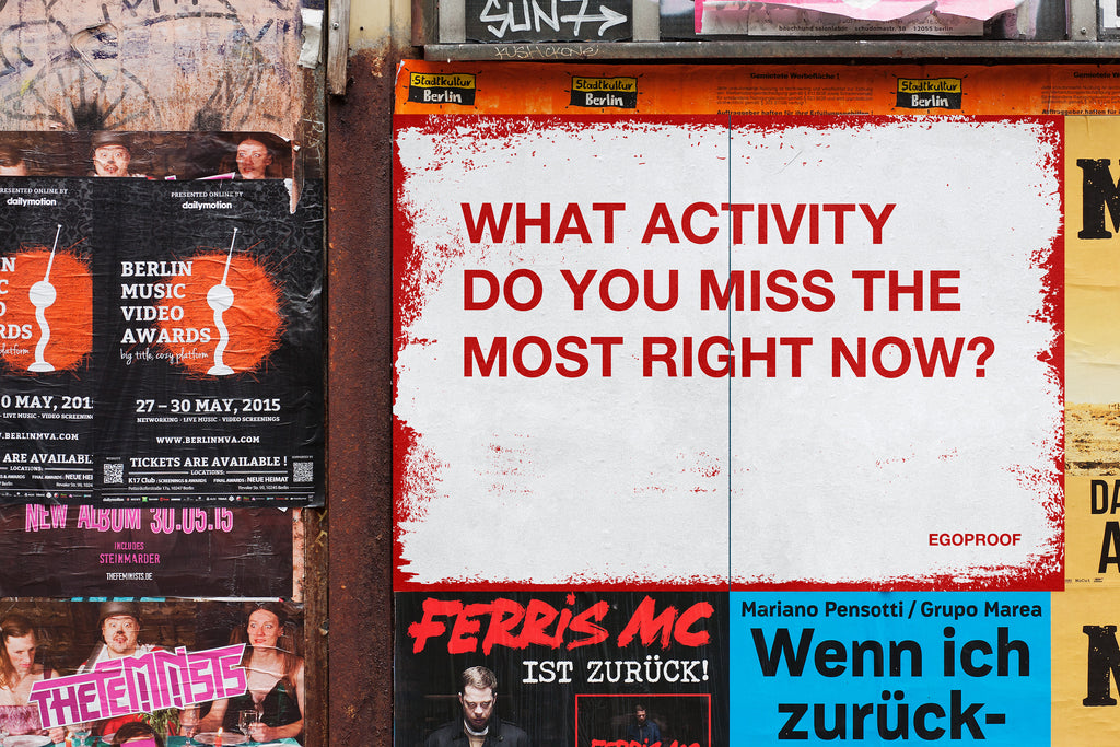 What Activity Do You Miss The Most?