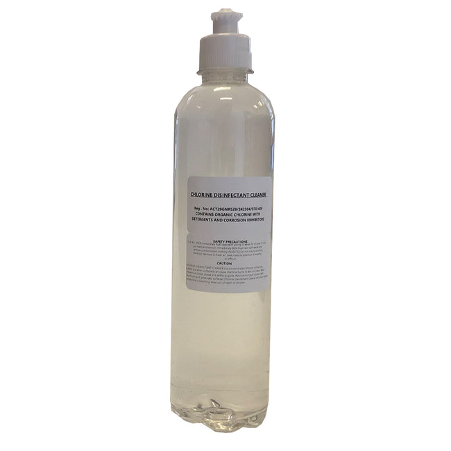 Chlorine Disinfectant Cleaner 500ml With Detergents & Corrosion Inhibitors