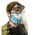 Medical Distributors Black Injection Moulded Personal Protection (PPE) Face Shield For Direct Splash Protection