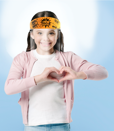 Medical Distributors Children's ( Ages 3+) Corona Fighters Orange Personal Protection (PPE) Face Shield