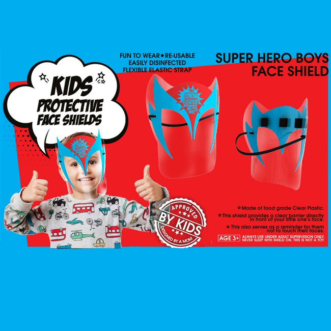 Super Hero PPE Full Face Kids mask School