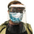 Medical Distributors White Injection Moulded Personal Protection (PPE) Face Shield For Direct Splash Protection