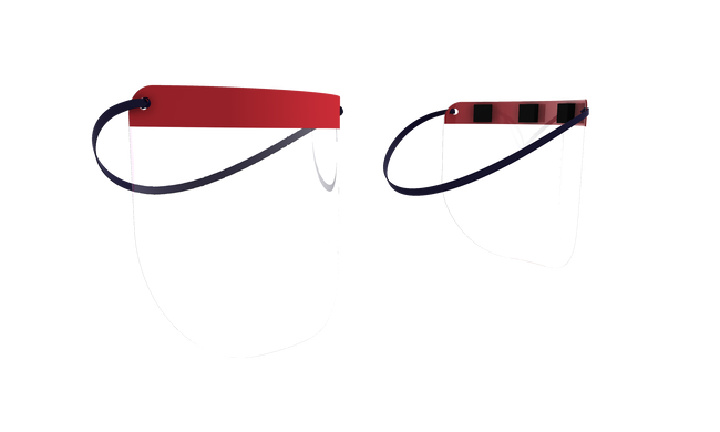 Medical Distributors Maroon Band Personal Protection (PPE) Face Shield