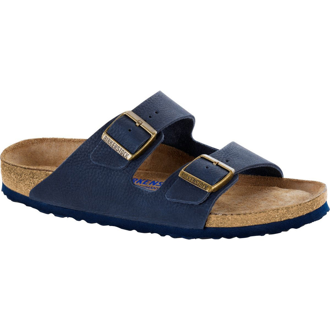'Arizona' Soft Footbed Navy Nubuck (Regular Width)