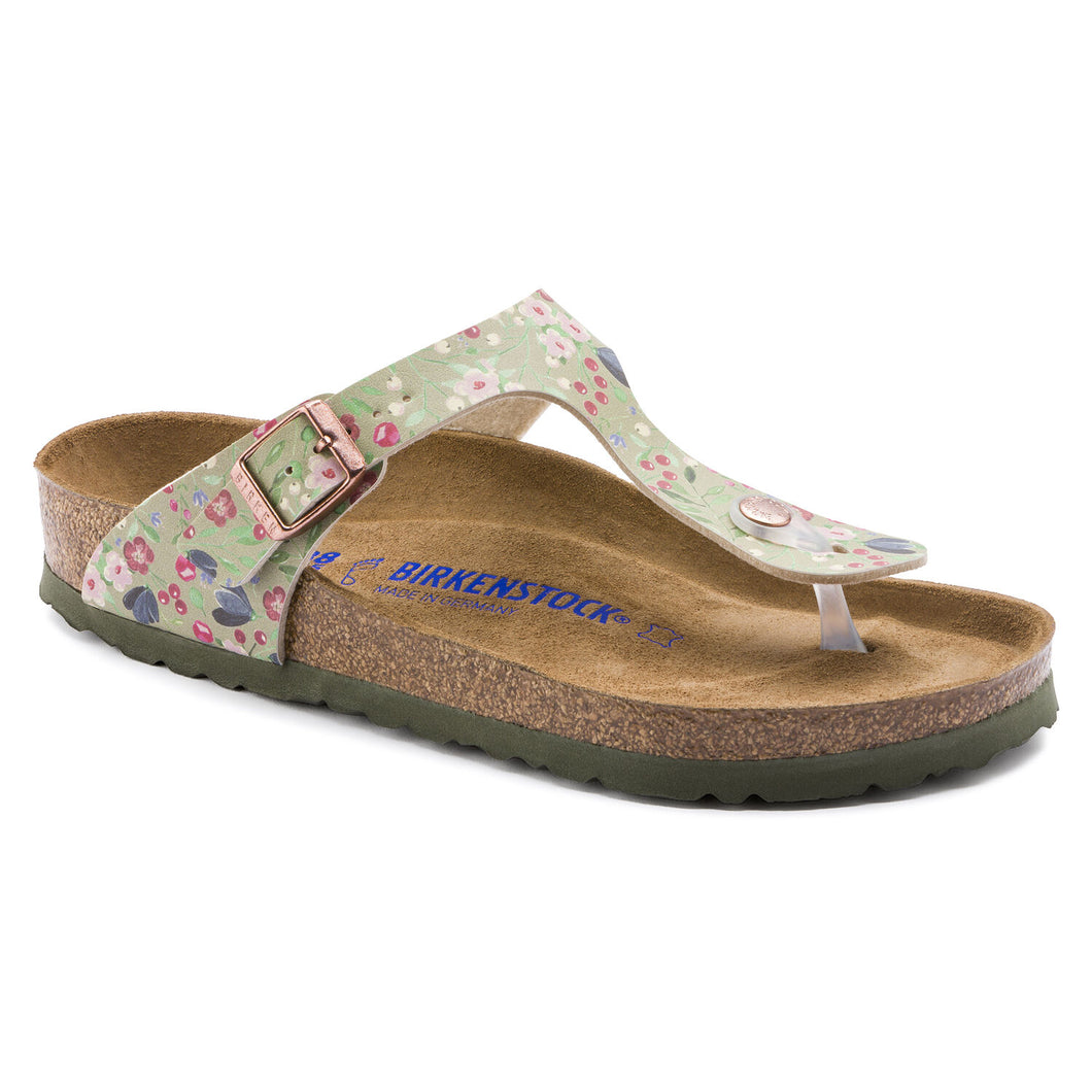 'Gizeh' Khaki Meadowflowers Birko-Flor - Soft Footbed (Regular Width)