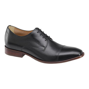 McClain Cap Toe Derby - Black Leather (Wide)