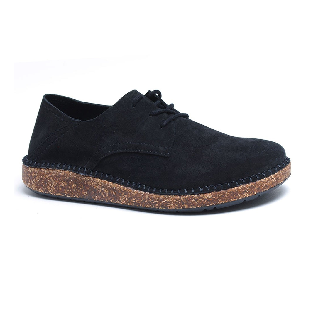 'Gary' Black Suede (Narrow Fit)