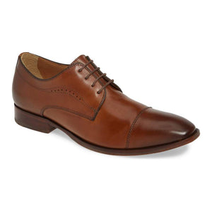 McClain Cap Toe Derby - Tan Leather (Wide)