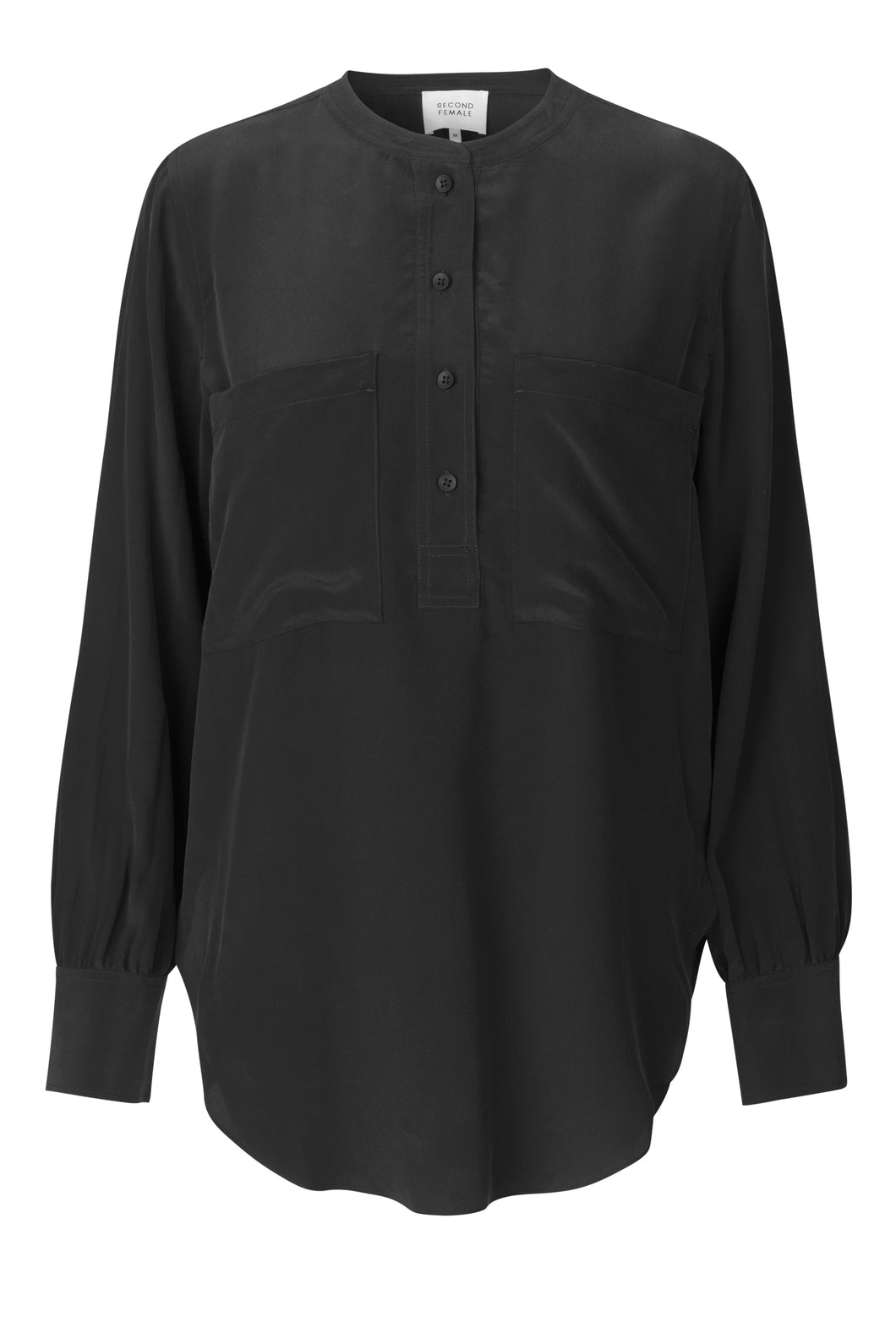 Second Female Bluse - Thori LS Blouse, schwarz