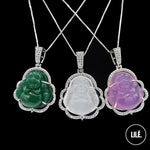 Load image into Gallery viewer, PURPLE BUDDHA NECKLACE