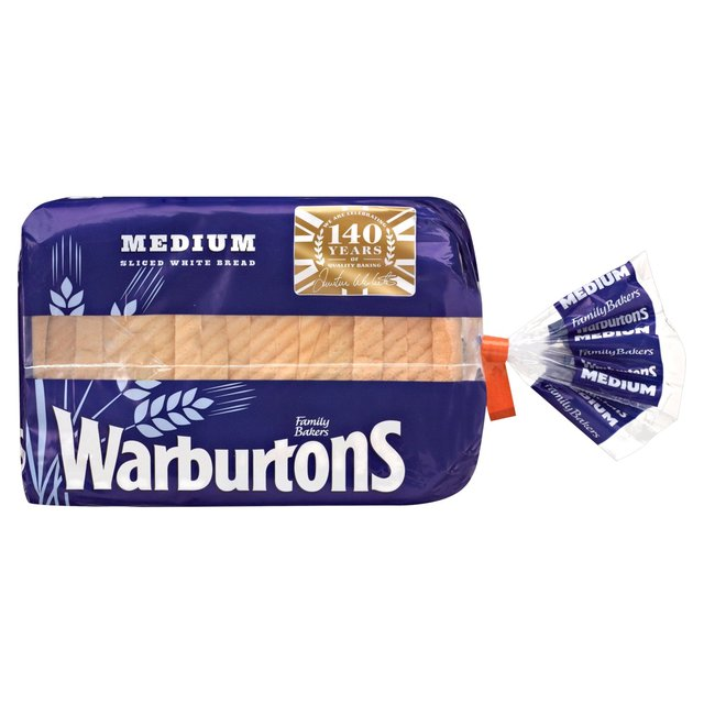 Warburtons Medium Sliced Bread (shop pick-up only)