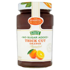 Stute No Sugar Added Thick Cut Orange Marmalade 430g